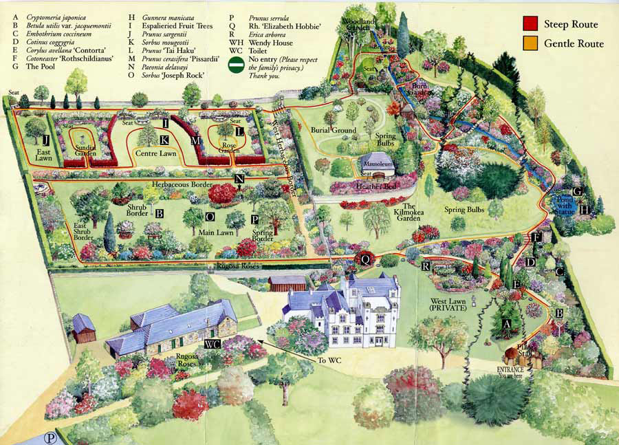 Map of Bolfracks gardens